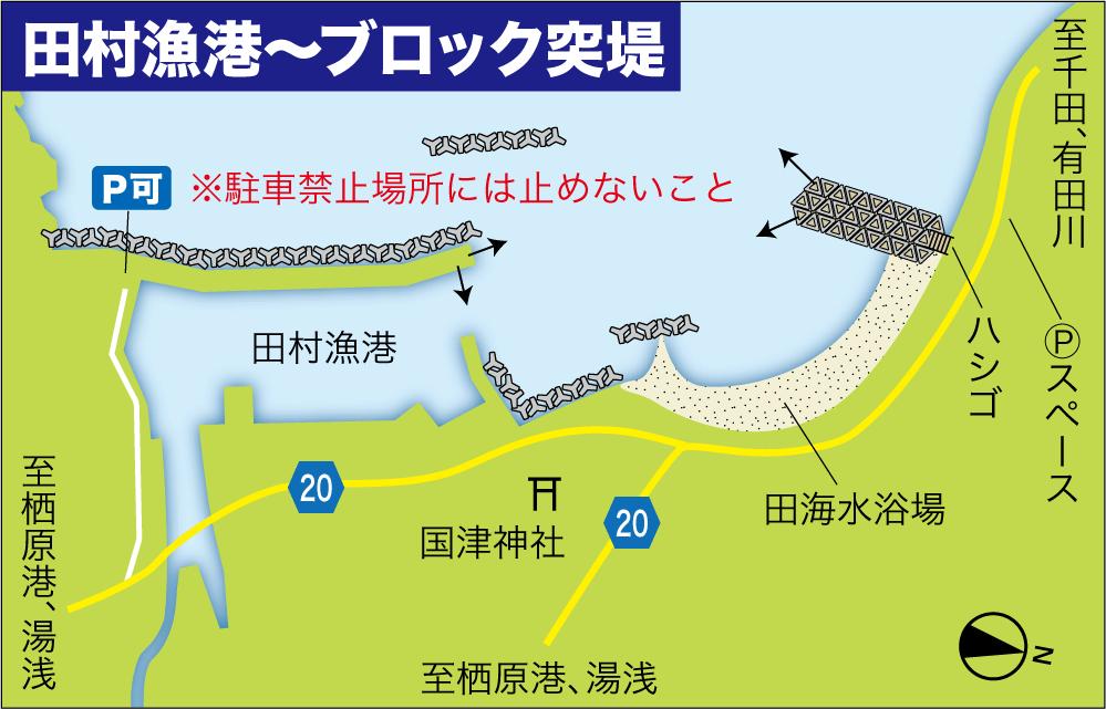大物釣り場田村漁港
