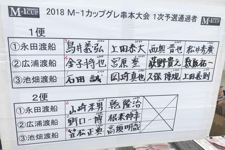 上田泰大トーナメント思考9