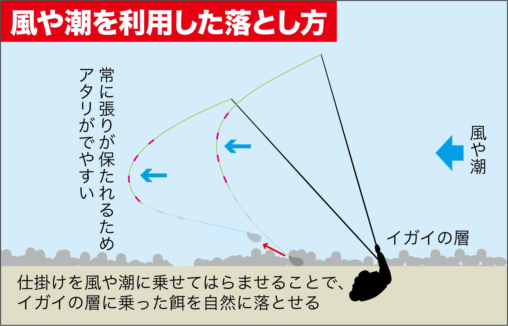 チヌ落とし込みスライダー釣法6