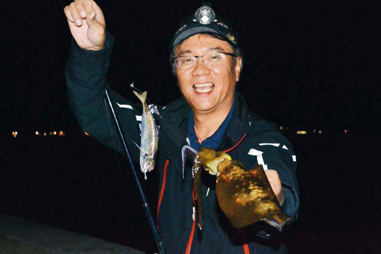 アオリイカ・タチウオのリレー釣り1