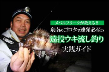 メバルフリークが教える!! 泉南のゴロタで連発必至の遠投ウキ流し釣り実践ガイド