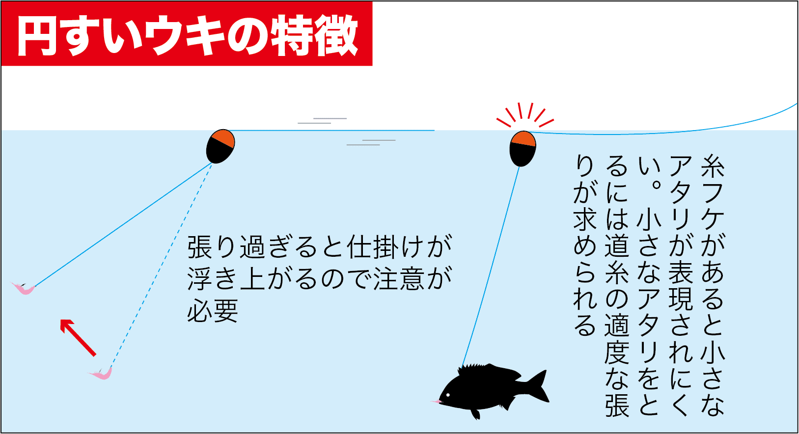 QAフカセ円すいウキ利点6