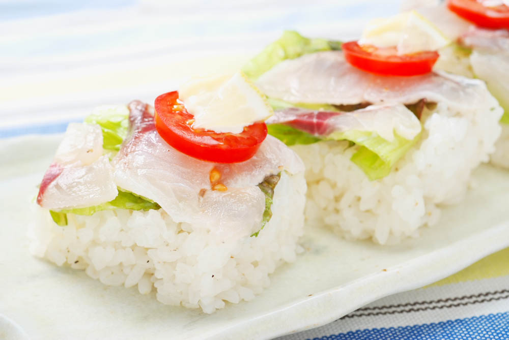 アジの洋風押し寿司
