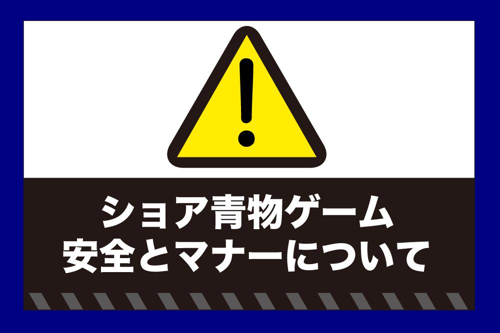 ショア青物ゲーム 安全&マナー1