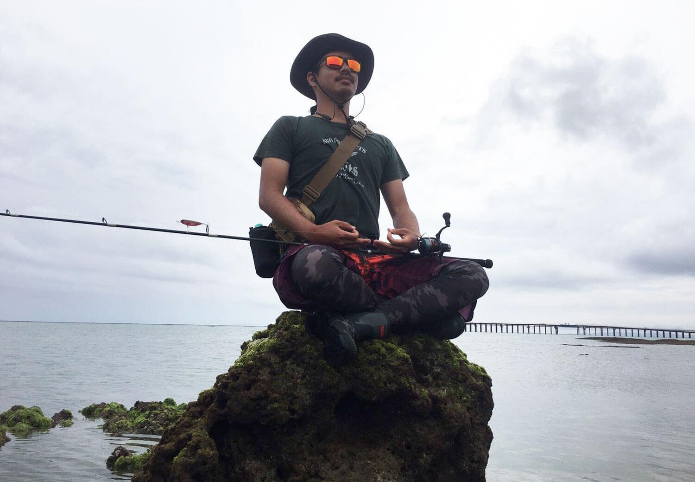 沖縄の釣り メッキ・ロウニンアジ5