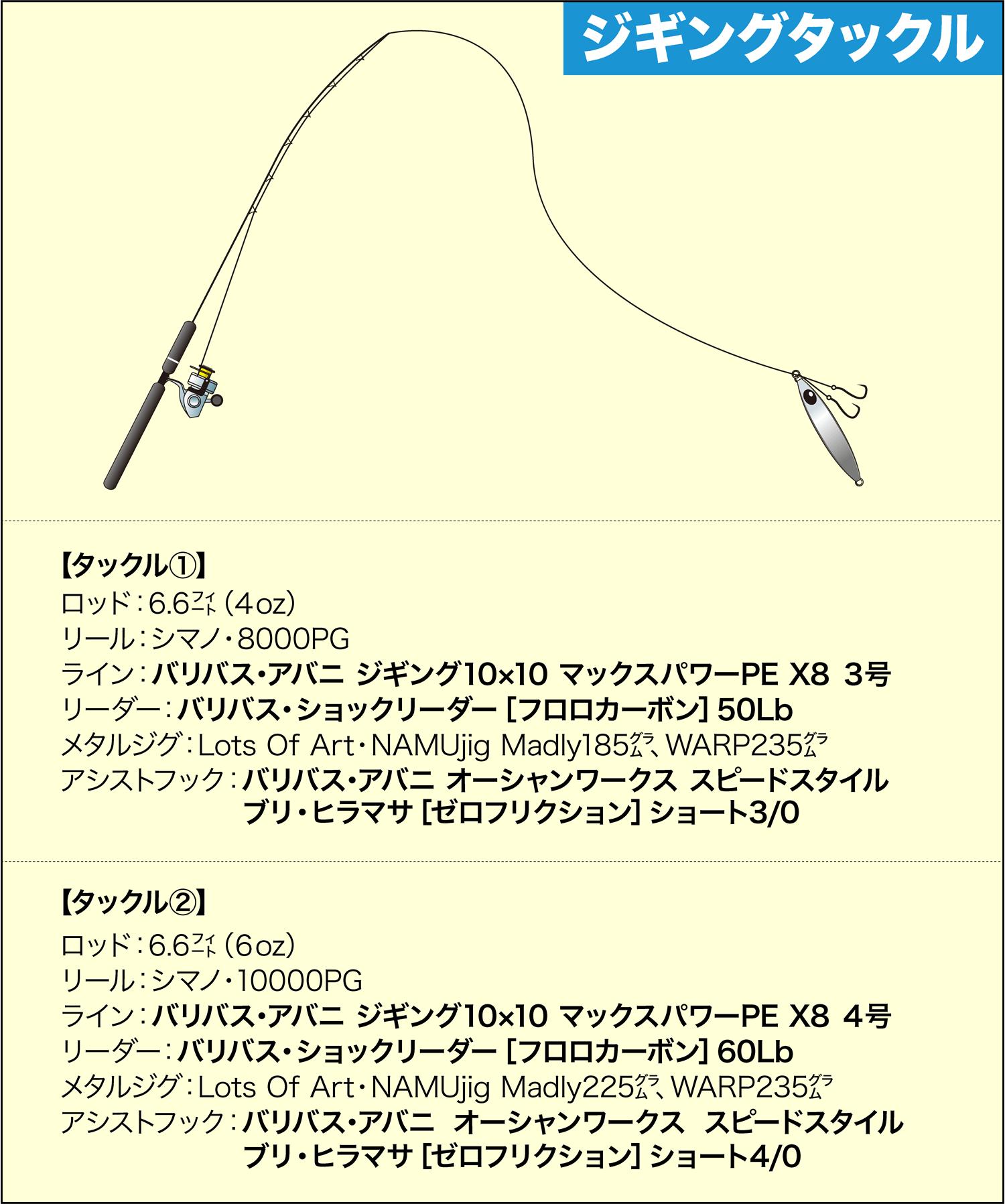 オフショアジギング・キャスティング ジギングライン・ジギングフック6