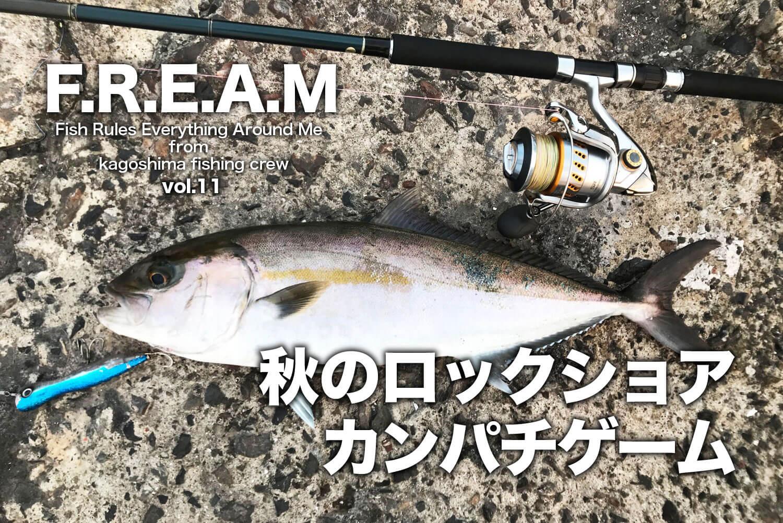 ショア青物ゲーム・カンパチ・錦江湾1